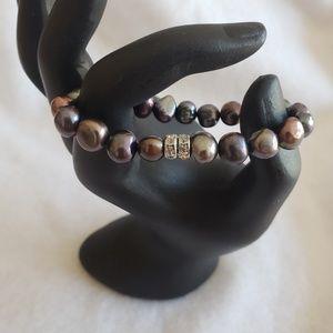patagium pearls Jewelry - Black oil slick pearl stretch bracelet